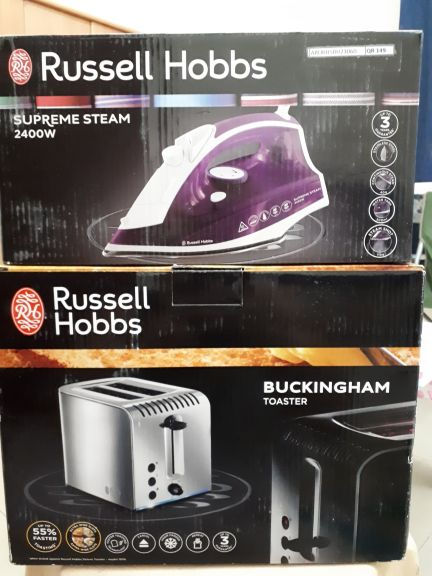 steam iron and toaster