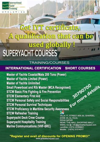 Master of yachts license.