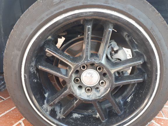 ruff racing rims 17 with tyres