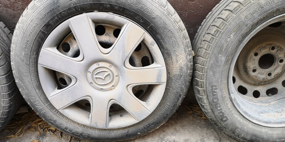 4 tires with rims 15 inch good condition