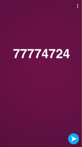 77774724Numbers four seal