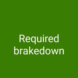 required brakedown 2008