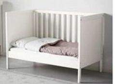 Ikea baby bed made of wood