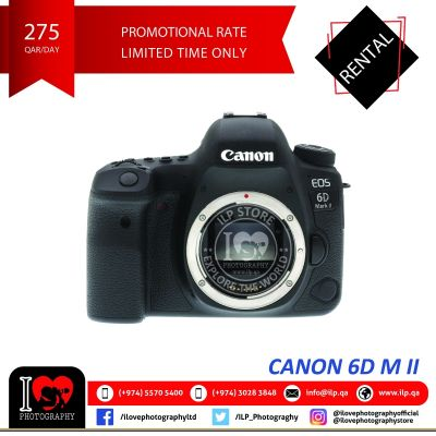 Canon 6D M II available for rental!