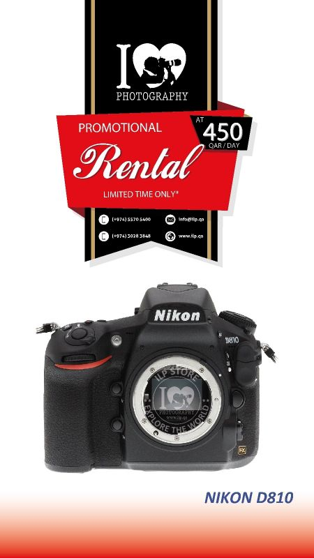 Nikon D810 available for rental!