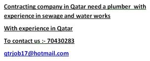 contracting company needs a plumber