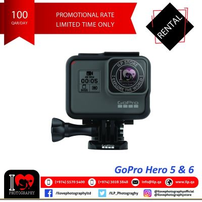 GoPro Hero 5 & 6 available for rental!