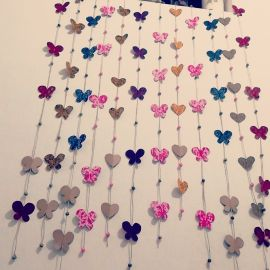 Decorative wall of roses