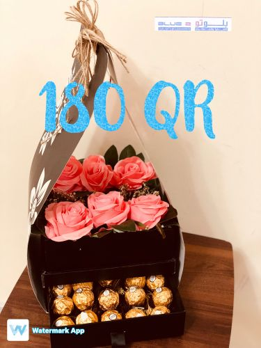 Box flower&chocolate  180 QR