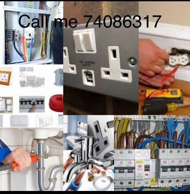 Electric plumber service work