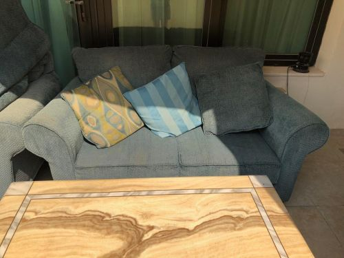 Sofa set with marble table