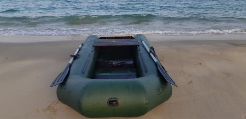 Inflatable zodiac fishing boat