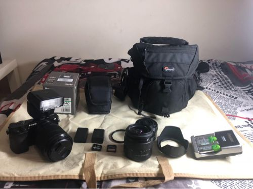 Sony A6000 ( with kit lenses)