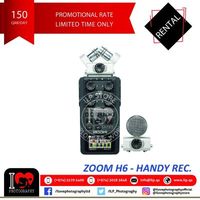 Zoom H6 available for rental!