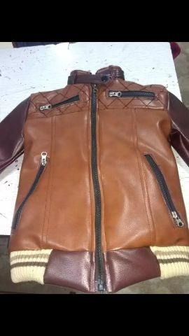 leather jacket available on order