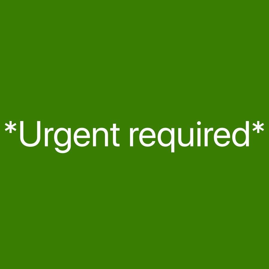 *Urgent required*