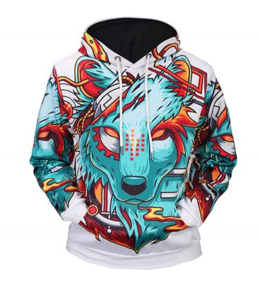 Men's hoodie animal pattern