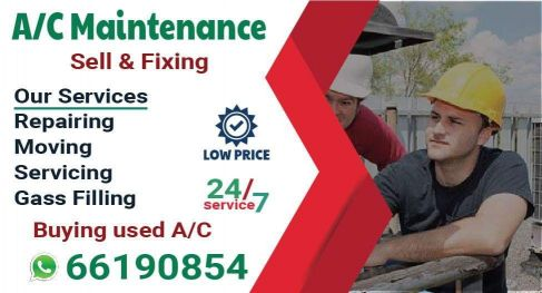 A/c maintenance available.Call- 66190854