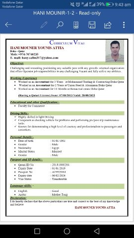 Accountant searching about job