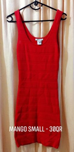 MANGO RED FITTED DRESS - 30qr