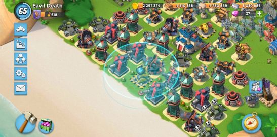 boom beach for sale lvl 65 all max level
