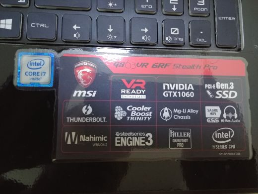 MSI Stealth pro gs63 6rf in excellent co