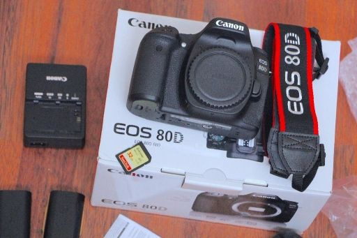 hi canon 80d with 18-55 lens