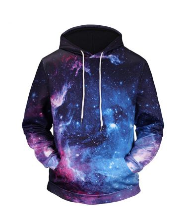 Men's high quality galaxy hoodie