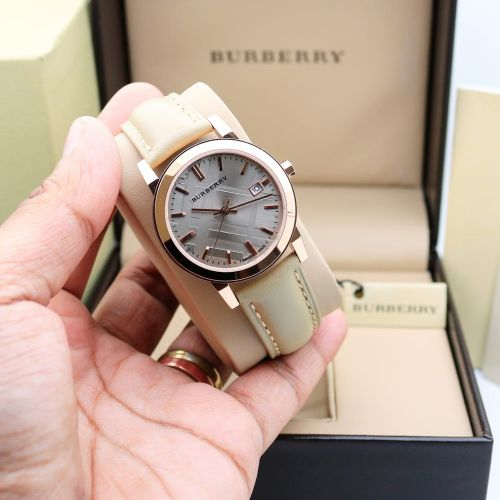 Burberry Leather Watch For Her.