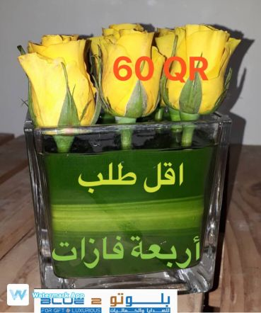6roses   With vase 60 QR