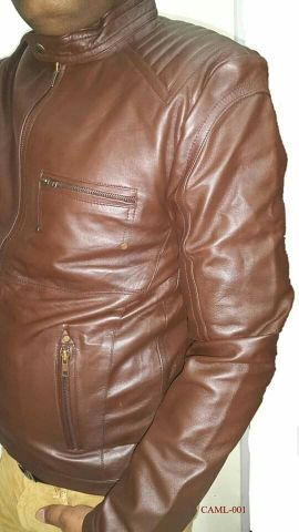 New Camel Leather Jacket