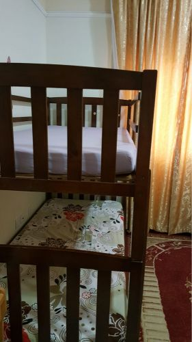 double floor bed with mattress