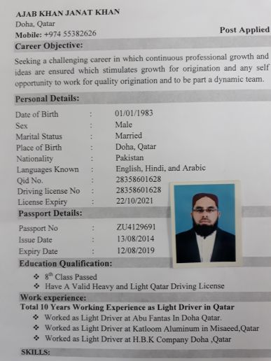 I'm Driver light and have licence
