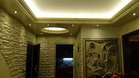 gypsum work and partition and paint