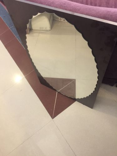 Mirror,  dark brown color