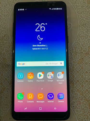 Mobile Samsung galaxy A8+