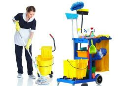 female and male cleaning services