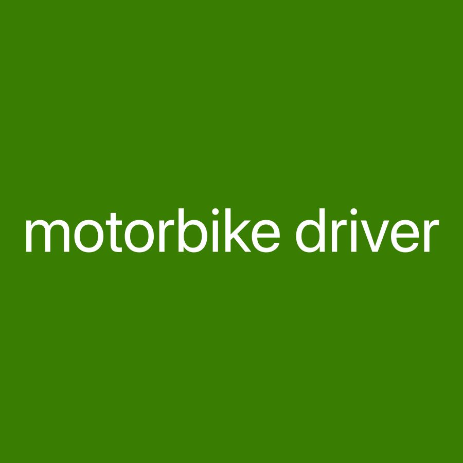 look motorbike driver withlicence