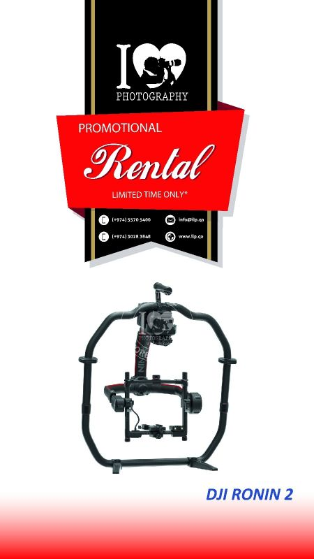 DJI Ronin 2 available for rental!!