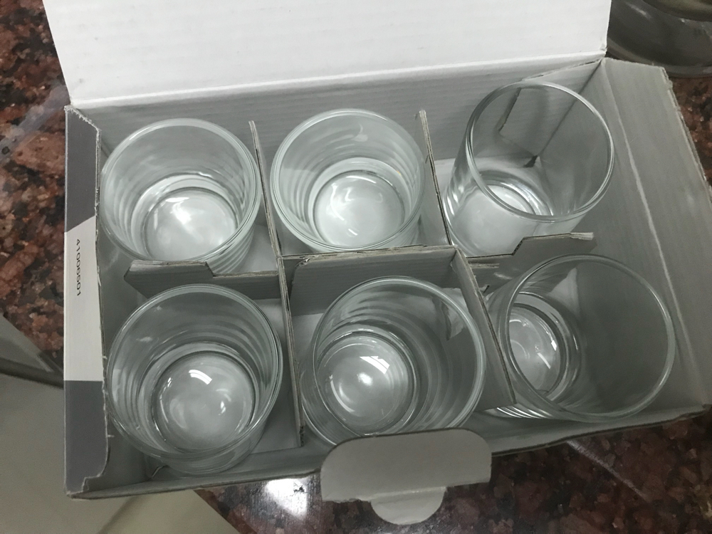Glasses of various types