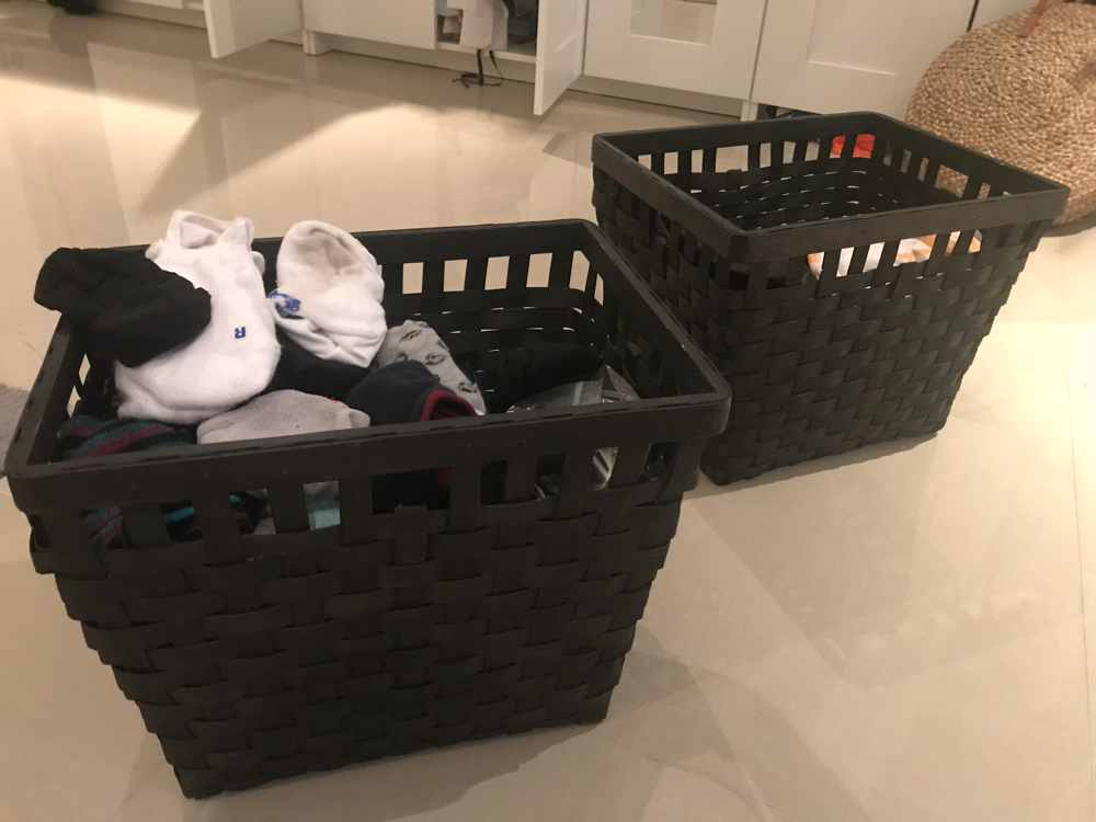 2 large baskets