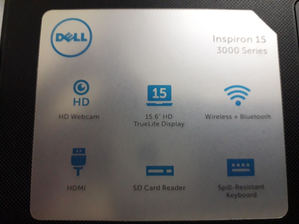 dell laptop with charger+mouse+keyboard