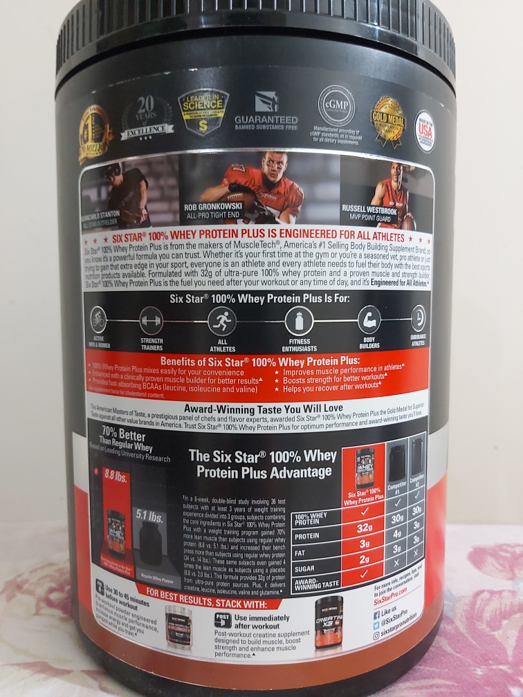 100% whey protein from Muscletech