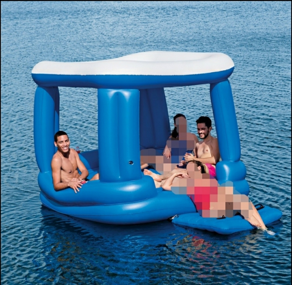 Swimming inflatable row
