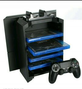 ps4 stand,cooler,charger,games holder