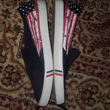 Shoes with American Flag