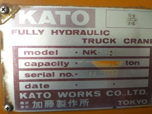 50T Kato perfect condition 2007