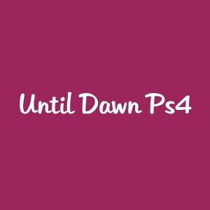Until Dawn ps4 100 QR
