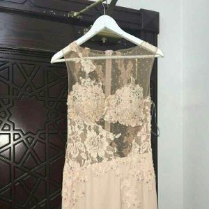 party dress peach color