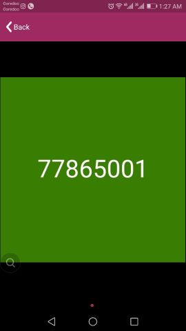 Vodafone fancy number 7 786 5001